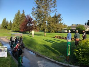 Burnaby Mountain Senior Men's Golf Club first tee